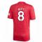 2020-2021 Man Utd Adidas Home Football Shirt (BUTT 8)