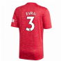2020-2021 Man Utd Adidas Home Football Shirt (EVRA 3)