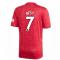 2020-2021 Man Utd Adidas Home Football Shirt (Kids) (BEST 7)