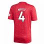 2020-2021 Man Utd Adidas Home Football Shirt (Kids) (BRUCE 4)