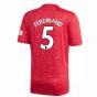 2020-2021 Man Utd Adidas Home Football Shirt (Kids) (FERDINAND 5)