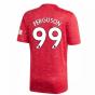 2020-2021 Man Utd Adidas Home Football Shirt (Kids) (FERGUSON 99)