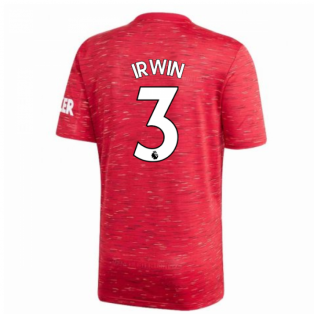 2020-2021 Man Utd Adidas Home Football Shirt (Kids) (IRWIN 3)