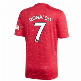2020-2021 Man Utd Adidas Home Football Shirt (Kids) (RONALDO 7)