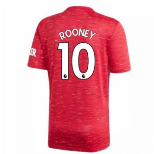 2020-2021 Man Utd Adidas Home Football Shirt (Kids) (ROONEY 10)