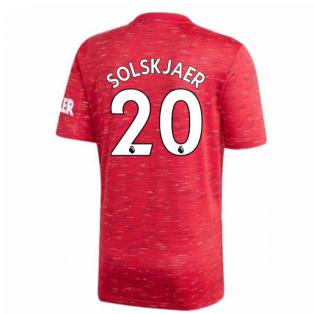 2020-2021 Man Utd Adidas Home Football Shirt (Kids) (SOLSKJAER 20)