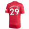 2020-2021 Man Utd Adidas Home Football Shirt (Kids) (WAN-BISSAKA 29)