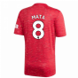 2020-2021 Man Utd Adidas Home Football Shirt (MATA 8)