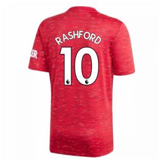 2020-2021 Man Utd Adidas Home Football Shirt (RASHFORD 10)