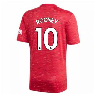 2020-2021 Man Utd Adidas Home Football Shirt (ROONEY 10)