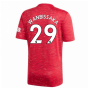 2020-2021 Man Utd Adidas Home Football Shirt (WAN-BISSAKA 29)