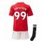 2020-2021 Man Utd Adidas Home Little Boys Mini Kit (FERGUSON 99)