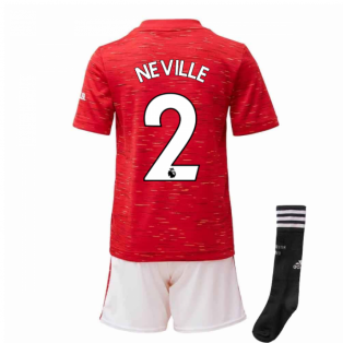 2020-2021 Man Utd Adidas Home Little Boys Mini Kit (NEVILLE 2)