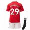 2020-2021 Man Utd Adidas Home Little Boys Mini Kit (WAN-BISSAKA 29)