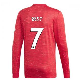 2020-2021 Man Utd Adidas Home Long Sleeve Shirt (BEST 7)