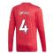 2020-2021 Man Utd Adidas Home Long Sleeve Shirt (BRUCE 4)