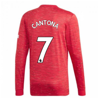 2020-2021 Man Utd Adidas Home Long Sleeve Shirt (CANTONA 7)
