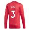 2020-2021 Man Utd Adidas Home Long Sleeve Shirt (EVRA 3)