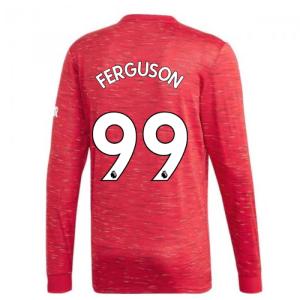 2020-2021 Man Utd Adidas Home Long Sleeve Shirt (FERGUSON 99)