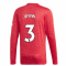 2020-2021 Man Utd Adidas Home Long Sleeve Shirt (IRWIN 3)