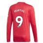 2020-2021 Man Utd Adidas Home Long Sleeve Shirt (MARTIAL 9)