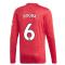 2020-2021 Man Utd Adidas Home Long Sleeve Shirt (POGBA 6)