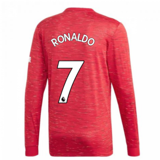 2020-2021 Man Utd Adidas Home Long Sleeve Shirt (RONALDO 7)
