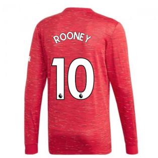 2020-2021 Man Utd Adidas Home Long Sleeve Shirt (ROONEY 10)