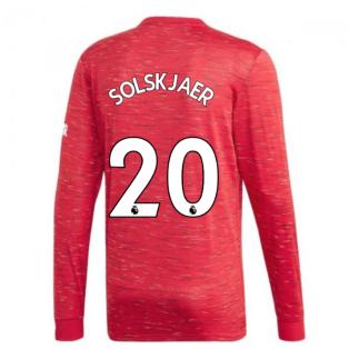 2020-2021 Man Utd Adidas Home Long Sleeve Shirt (SOLSKJAER 20)