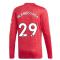 2020-2021 Man Utd Adidas Home Long Sleeve Shirt (WAN-BISSAKA 29)