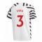 2020-2021 Man Utd Adidas Third Football Shirt (Kids) (EVRA 3)