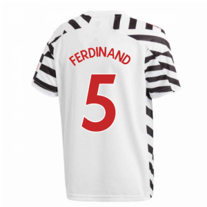 2020-2021 Man Utd Adidas Third Football Shirt (Kids) (FERDINAND 5)