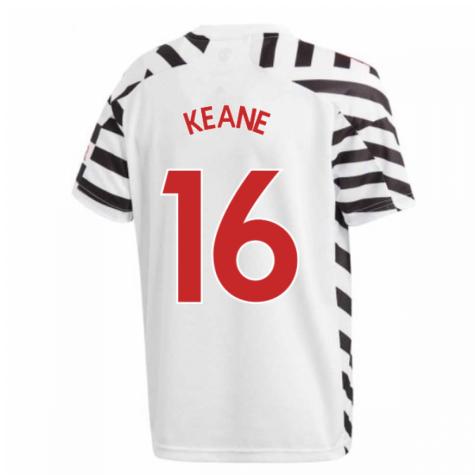 2020-2021 Man Utd Adidas Third Football Shirt (Kids) (KEANE 16)
