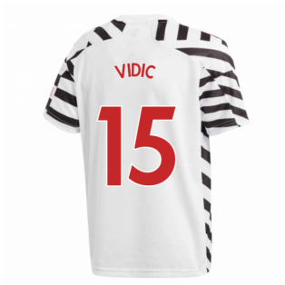 2020-2021 Man Utd Adidas Third Football Shirt (Kids) (VIDIC 15)