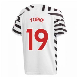 2020-2021 Man Utd Adidas Third Football Shirt (Kids) (YORKE 19)