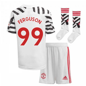 2020-2021 Man Utd Adidas Third Little Boys Mini Kit (FERGUSON 99)