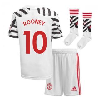 2020-2021 Man Utd Adidas Third Little Boys Mini Kit (ROONEY 10)