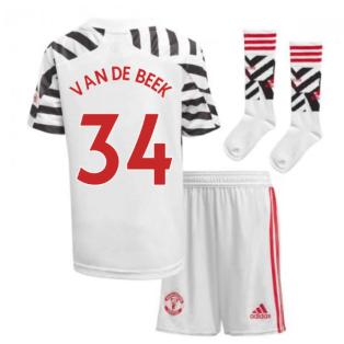 2020-2021 Man Utd Adidas Third Little Boys Mini Kit (VAN DE BEEK 34)