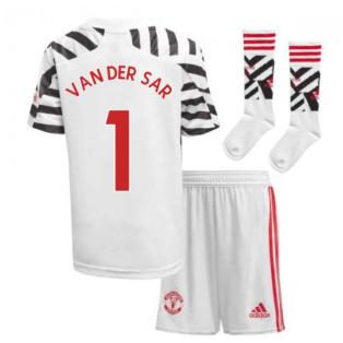 2020-2021 Man Utd Adidas Third Little Boys Mini Kit (VAN DER SAR 1)