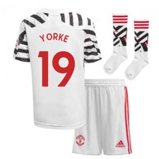 2020-2021 Man Utd Adidas Third Little Boys Mini Kit (YORKE 19)