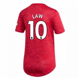 2020-2021 Man Utd Adidas Womens Home Shirt (LAW 10)
