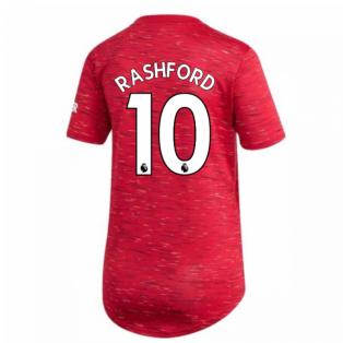 2020-2021 Man Utd Adidas Womens Home Shirt (RASHFORD 10)