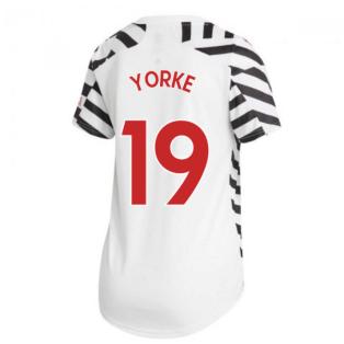 2020-2021 Man Utd Adidas Womens Third Shirt (YORKE 19)