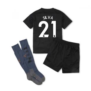 2020-2021 Manchester City Away Little Boys Mini Kit (SILVA 21)