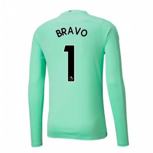 2020-2021 Manchester City Home Goalkeeper Shirt (Green) (BRAVO 1)