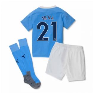 2020-2021 Manchester City Home Little Boys Mini Kit (SILVA 21)