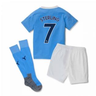 2020-2021 Manchester City Home Little Boys Mini Kit (STERLING 7)