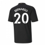 2020-2021 Manchester City Puma Away Football Shirt (BERNARDO 20)