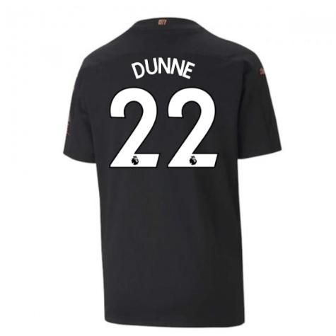 2020-2021 Manchester City Puma Away Football Shirt (Kids) (DUNNE 22)