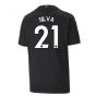 2020-2021 Manchester City Puma Away Football Shirt (Kids) (SILVA 21)